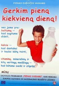 pienas vaikams